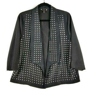 Rock & Republic Womens Black Studded Jacket - 14